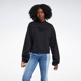 クラシックス モックネック クルー スウェットシャツ / Classics Mock Neck Crew Sweatshirt (ブラック)