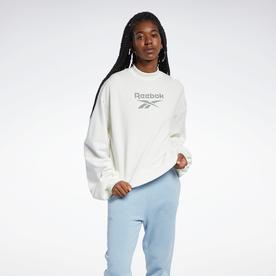 クラシックス モックネック クルー スウェットシャツ / Classics Mock Neck Crew Sweatshirt (ホワイト)