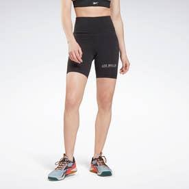 レズミルズR ビヨンド ザ スウェット バイク ショーツ / Les MillsR Beyond the Sweat Bike Shorts (ブラック)