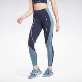 Lux ハイライズ カラーブロック レギンス / Lux High-Rise Colorblock Leggings (ブルー)