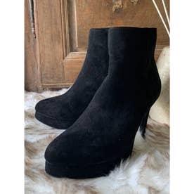 スエードショートブーツ (ブラック)