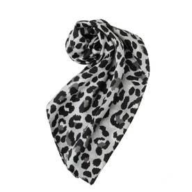 レオパードパターンスカーフ(ブラック)