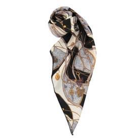 チェーンパターンスカーフ(ブラック)