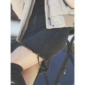 【WEB限定】デニムスカート (ブラック)
