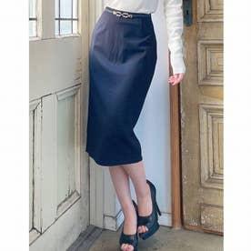 ベーシックタイトスカート (ブラック)