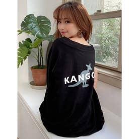 【KANGOL別注】配色ワンショルロンT (ブラック)