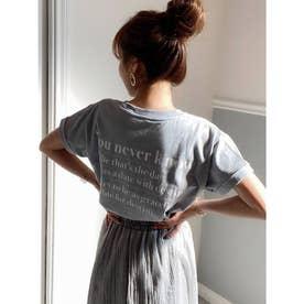 バックプリントロゴTシャツ (ブルー)
