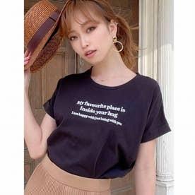 エンブロイダリーロゴTシャツ (ブラック)