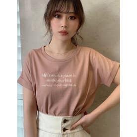 エンブロイダリーロゴTシャツ (オレンジ)