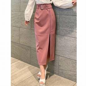 レイヤードZIPスカート (ピンク)