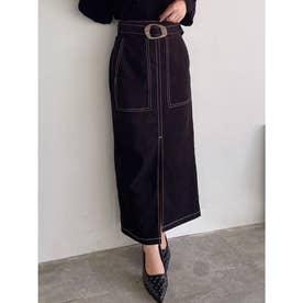 モールスキンペンシルスカート (ブラック)