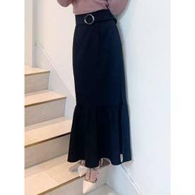 マーメイドスリットスカート (ブラック)