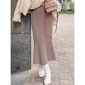 マーメイドニットスカート (ピンク)