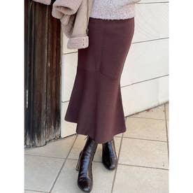 マーメイドニットスカート (ブラウン)