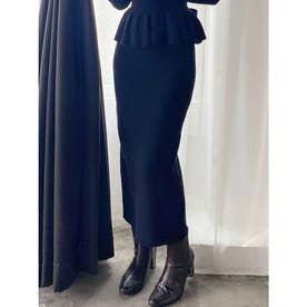 ニットタイトスカート (ブラック) 【セットアップ対応】