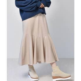 レザーマーメイドスカート (Lベージュ)