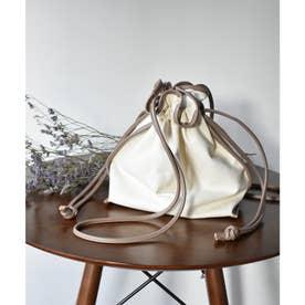 パイピング巾着BAG (Lベージュ)