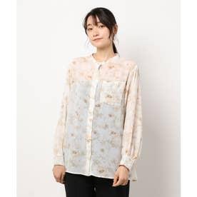 柄シアーBIGシャツ (ガラ(グリーン))