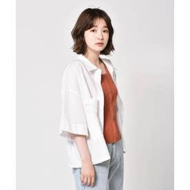 ゆる半袖シャツ (オフホワイト)