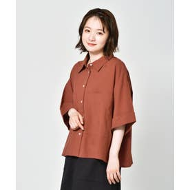 ゆる半袖シャツ (レッド)