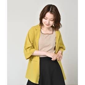 リネンライクシャツジャケット (カラシ)