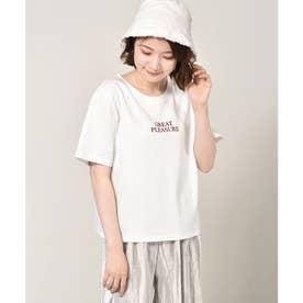 アソートロゴ刺繍Tee (ホワイト)