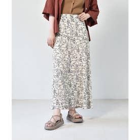 マーメイド細プリーツスカート (オフホワイト)