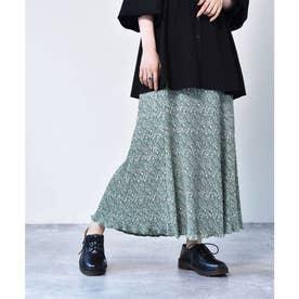 マーメイド細プリーツスカート (グリーン)