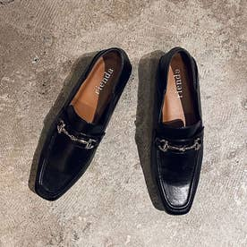 Square to bit loafers (ブラック)