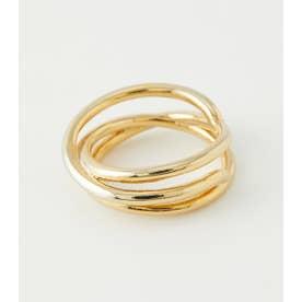 twist Hoop Ring (ゴールド)