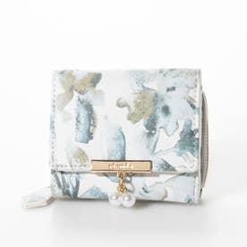 FLOWER PRINT MINI WALLET (ブルー)