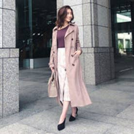 stretch Suede Trench CT (ライトブラウン)