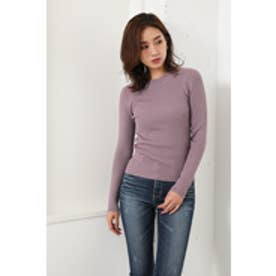 Washable HN RIB Knit TOP (パープル)
