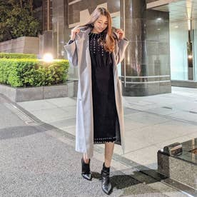 Hoodie Gown Wool MIX Long CT (グレー)