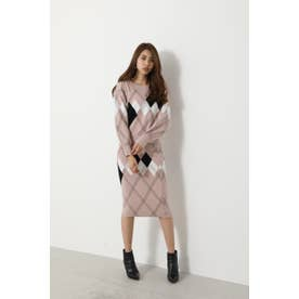 Argyle Pattern Knit SET UP (ピンク)