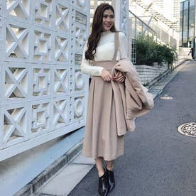 Wool like Back Ribbon J/W SK (ベージュ)