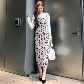 Leopard JQ Jumper Dress (ベージュ)