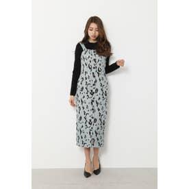Leopard JQ Jumper Dress (ミント)