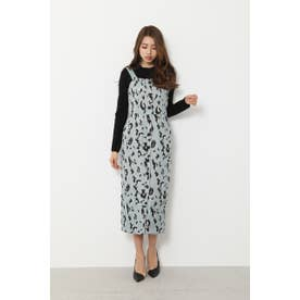 Leopard JQ Jumper Dress (ミント)