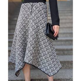 Knit Tweed J/W Flare SK (ブラック)