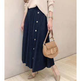 DENIM Pleats MIX J/W SK (ブルー)
