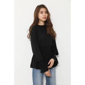 Back Ribbon Knit TOP (ブラック)