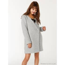 ノーカラーBack Faux Fur Wool MIX CT (T.GRY)