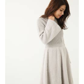 シャギーリブSwitching Knit OP L/GRY1