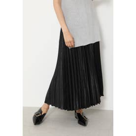 Shiny Pleats J/W Long SK BLK