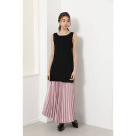 Shiny Pleats J/W Long SK L/PNK1