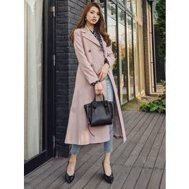 Side pleats trench CT PNK