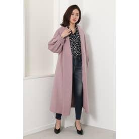 Shawl collar gown CT PNK
