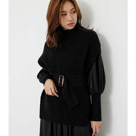 knitベストTOP (ブラック)