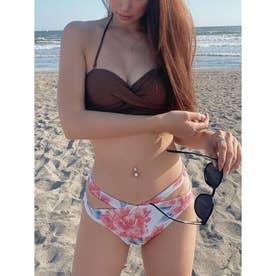 side cut Bandeau cup bikini BRN